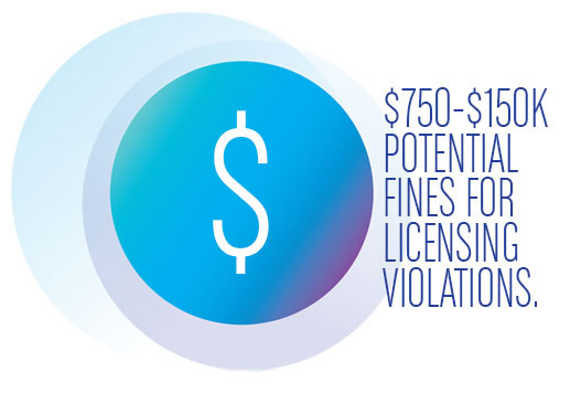 Avoid Fines for Licensing Violations